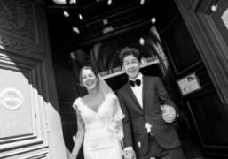 Dustin Dollin and Emilie Kareh's wedding ceremony and reception at Église Saint-Leu-Saint-Gilles...