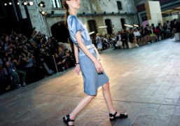 One look from the Paul Smith S/S 2015 show atCentral Saint Martins...