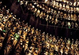 The finale of Moncler Grenoble F/W 2013 show, New York. Photo Alexis…