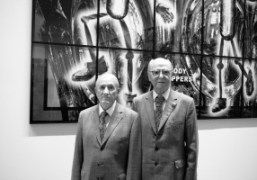 """Gilbert and George """"Scapegoating Pictures for London,"""" London"""