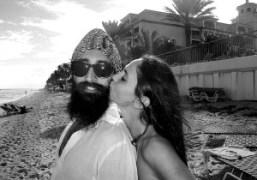 Waris Ahluwalia and Sabine Heller at the beach, Ritz-Carlton Hotel, Palm Beach.PhotoFrances…