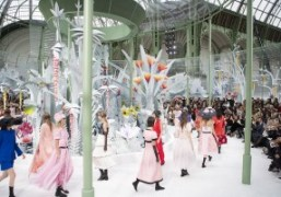 The finale at theChanel Haute Couture S/S 2015 show at the Grand...