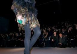 A peacock dress of Giambattista Valli F/W 09/10 show, Paris