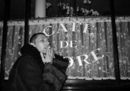 Samuel François in front of the Cafe de Flore, Paris. Photo Olivier…