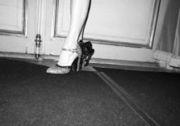 Madame Miuccia Prada's beautiful shoes, backstage at the Miu Miu F/W 09/10…