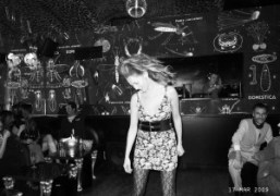 Jennifer Eymere dancing at the Montana. Happy birthday Jen! Photo Olivier Zahm