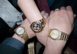Two gold audemars piguet versus one gold Rolex. Photo Olivier Zahm