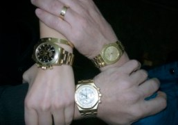 Another three gold watches: Olivier and Andre's Audemars Piguet Royal Oak with…
