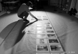 Mario Sorrenti in his studio selecting pictures of the shoot which he…