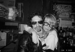 Me and Aurel Schmidt at Lit Lounge, New York. Photo Olivier Zahm