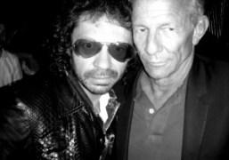 Olivier Zahm and Peter Beard at Le Montana, Paris. Photo Olympia Le-Tan
