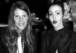 Anna Dello Russo and Michelle Harper before theMugler F/W 2012 show, Paris….