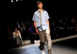 One look from the Wooyoungmi Men's S/S 2015 show at Espace Vendôme,...