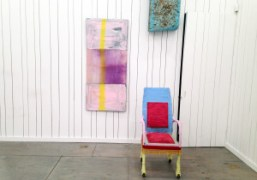 "Julian Schnabel's ""Flag Painting"" installation view at Karma, New York. Photo Bill…"