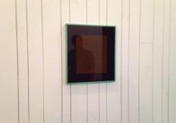 Brendan Dugan's reflection in Matt Connors art work from is show Reverse…