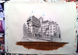 A new drawing of theChateau Marmontby Wes Lang, New York. Photo Bill…