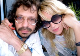Aurel Schmidt and me having a romantic summer lunch at the Standard…