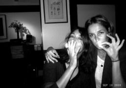 Camille Bidault Waddington and Aleksandra Woroniecka at Aleksandra's birthday party at Omen,…