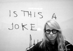 Aurel Schmidt at the Tracey Emin show Only God Knows I'm Good…