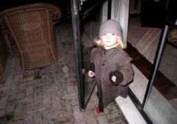 Secret Snow wearing Stella Schnabel's coat, New York. Photo Rachel Chandler