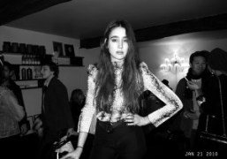 Natacha Ramsay at André & Lionel's apartment with Vitaminwater on rue Charlot,…