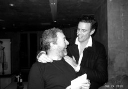 Philippe Starck and Stephan Crasneanscki at Philippe Starck's birthday at Kong, Paris….