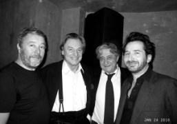 Philippe Starck, Gerard Garouste, Bernard Chapuis, Edouard Baer at Philippe Starck's birthday…