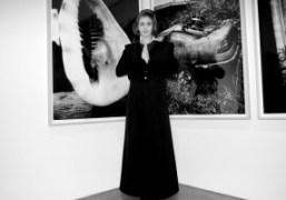 Sophie Aschauer at Daido Moriyama's opening at Luhring Augustine, New York. Photo…