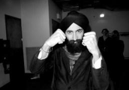 Waris Ahluwalia after the ThreeASFOUR F/W 2010 show, New York. Photo Olivier…