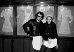Olivier Zahm and Jennifer Eymere at Mercatores, Milan. Photo Olivier Zahm