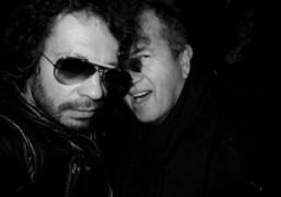 Olivier Zahm and Mario Testino at the Richard Hambleton opening, at the…