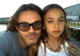Mario Sorrenti and his daughter Gray, Jersey Shore. Photo Mario Sorrenti