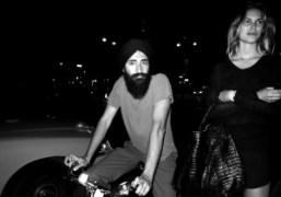 Waris Ahluwalia on his bike, New York. Photo Olivier Zahm
