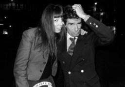 Victoire de Castellane and Vincent Darré in front of Le Montana, Paris….