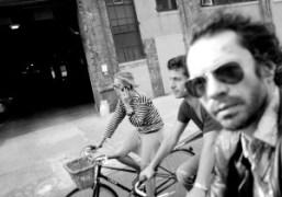 Annabelle Dexter-Jones, Olivier Zahm and Andre Saraiva riding bikes in New York….