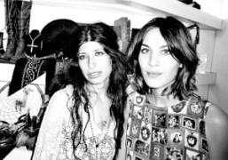 Pamela Love and Alexa Chung at the Pamela Love pop-up shop at…