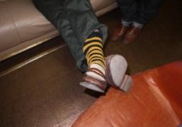 Andre Saraiva's chic socks at Purple Institute, Paris. Photo Olivier Zahm