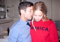 André Saraiva and Annabelle Dexter-Jones at the Dexter-Jones/Ronson Thanksgiving dinner, New York….