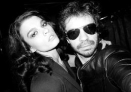 The beautiful Crystal Renn and Olivier Zahm at the Zac Posen F/W…