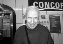 Bill Cunningham taking the metro after the Nina Ricci F/W 2011 show,…