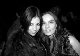 Julia Restoin-Roitfeld and Anouck Lepere at the Nina Ricci F/W 2011 show,…