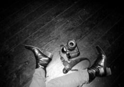Olivier Zahm's Yves Saint Laurent leather boots, Paris. Photo Olivier Zahm