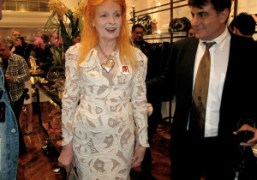 Dame Vivienne Westwood at the opening of her West Coast flagship boutique…