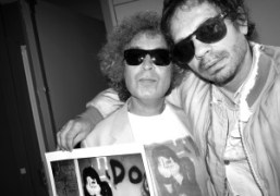 Photographer and Purple contributor Brad Elterman and Olivier Zahm at the Purple…