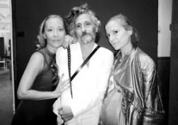 Designers Angela Donhauser, Gabi Asfour and Adi Gil of threeASFOUR after their...