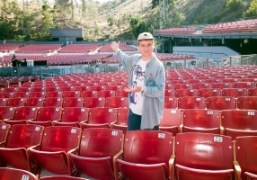 Mac DeMarco at his sound check at the historic Greek Theatre, Los...