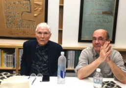 Glenn O'Brien and Luc Sante reading Rene Ricard poems at Mast Books,...