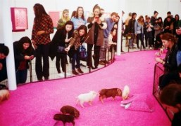 """Bjarne Melgaard and Bjørg """"The Casual Pleasure of Disappointment"""" exhibition closing day..."""