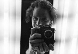 Austrian photographer Rainer Hosch at Barker Hanger Studio, Santa Monica.