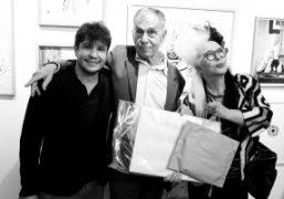 "Adel Abdessemed ""Charbon"" opening exhibition at Yvon Lambert Bookshop, Paris"